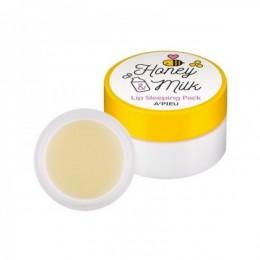 A'Pieu Ночная маска для губ с медом и молочными протеинами Honey & Milk Lip Sleeping Pack 6.7г